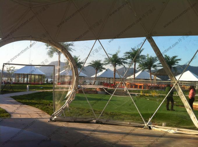 Customized Pvc Cover Geodesic Dome Tent Convenient For
