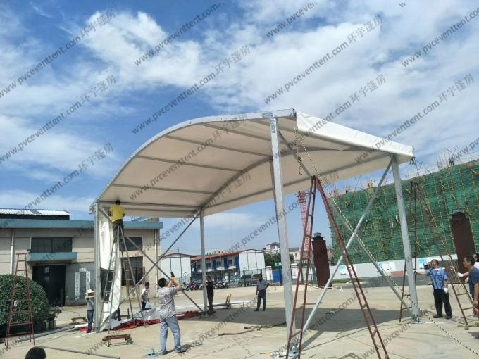12 To 15m Width Clear Span Archy Storage Tent Aluminum Structure With ABS Wall System