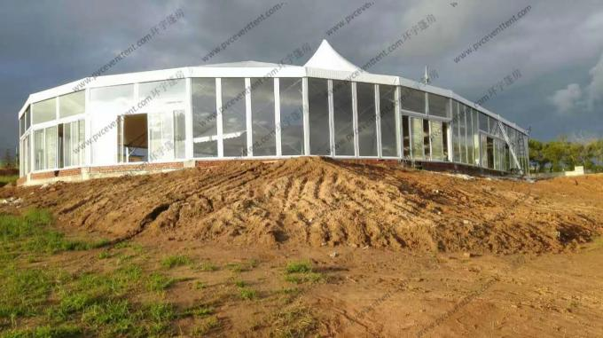 Aluminum Frame Outdoor Circus Tent Combination With Glass Windows For Africa Event