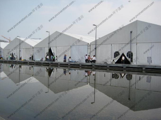 Wind Resistance Warehouse Storage Tent Aluminum Structure PVC With AC System