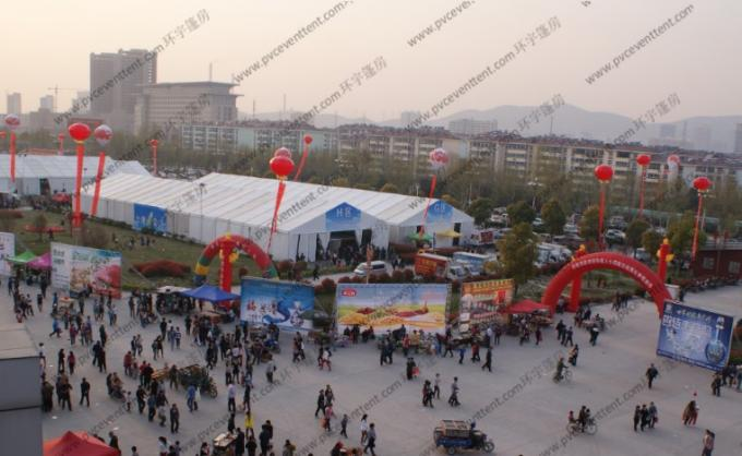 30m Clear Span Width Outdoor Exhibition Tents , White Aluminum Frame Outdoor Canopy Tent
