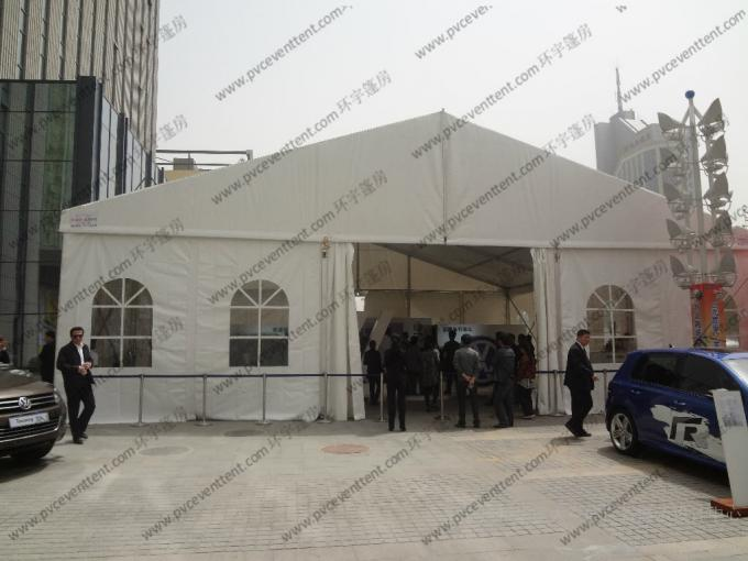 Huge Event Party Tent With Glass Sidewalls PVC Roof Cover and Inside Direction for Outside Car Sho Ceremonys