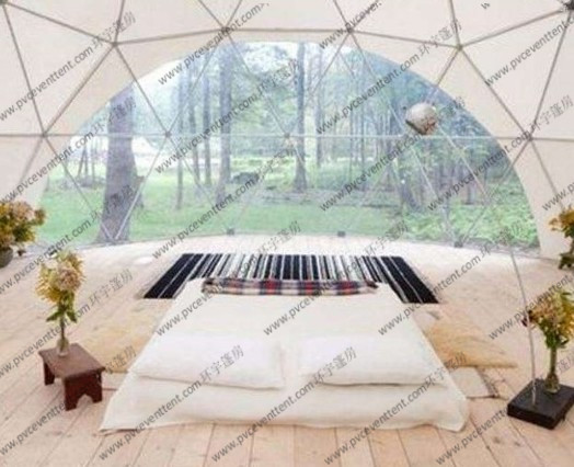 Outside Hotel Geodesic Dome Tents Uv Resistant With Beautiful Scenery