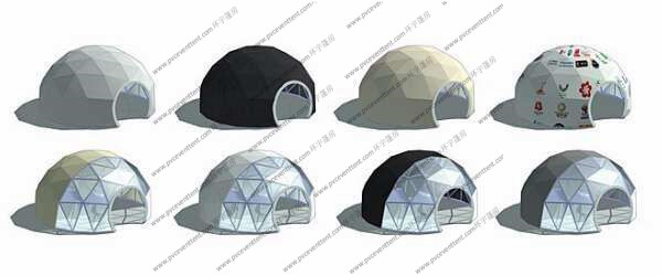 Special Design Large Geodesic Dome Tent Steel Structure For Car Show