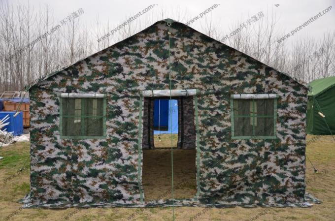 White Color 8x15M Water Proof Military Army Tent With Pvc Screen Windows