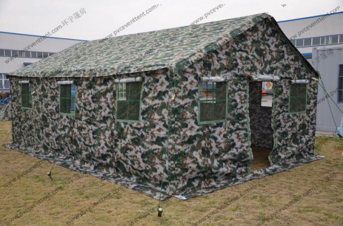 6x12M Green Military High Peak Tent For Outdoor Army Use , Pvc Canvas Tent