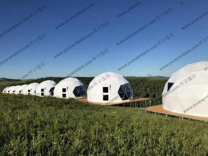 Large Aluminium Geodesic Dome Tent PVC Professional Easy Transportation Trouble Free
