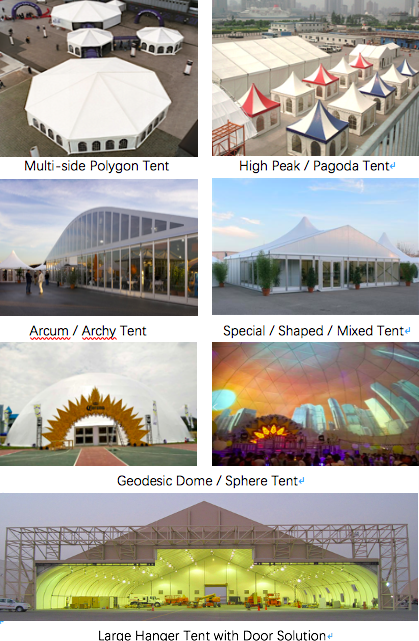 Luxury Design Polygon Tent For Outdoor Event And Exhibition Or Trade Show