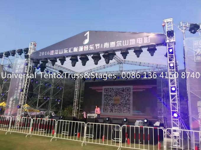 Heavy Loading Durable Aluminum Stage Lighting Truss With Screw Or Spigot Type