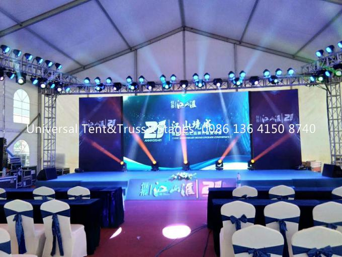 Portable Aluminum Lighting Truss , Spigot Truss For Stage , Light Weight