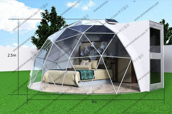 6m - 10m Diamater Small Geodesic Dome Home Camping With Optional Accessories