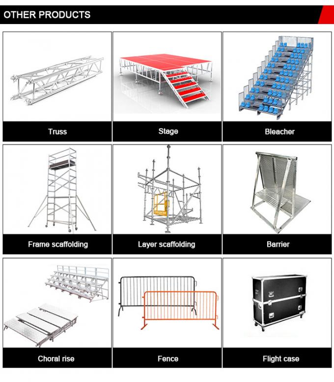 Circus Aluminum Spigot Truss Stage Lighting Scaffolding For Event , Outdoor Concert , Party