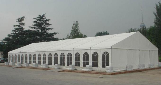 15m luxury waterproof flame resistant PVC Cover Aluminum Frame Camping event Marquee tents
