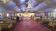 30m Width 1000 Guests Capacity Outdoor Event Tent White Lining Curtain For Conference or Wedding Event